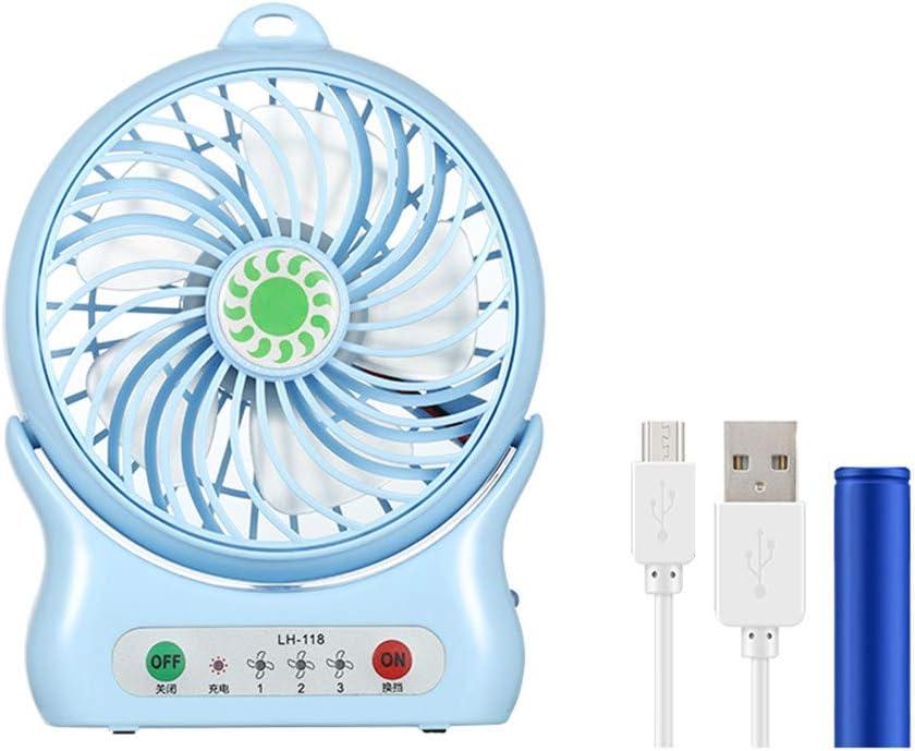 XGBIN Portable Quiet Fans,Mini USB Cooling Fan Rechargeable Battery Desktop Fan,for Home Office Outdoor Travel Camping Car,Blue