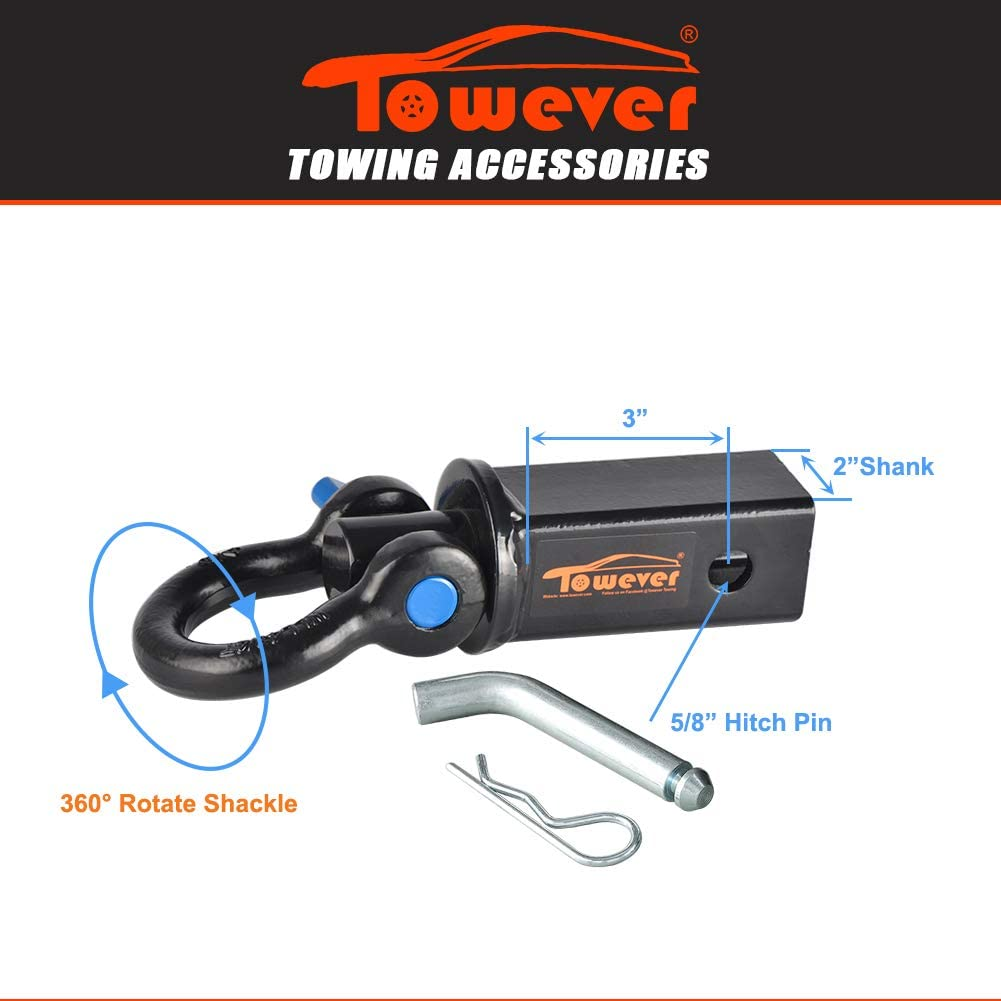 Towever 83710 D-Shackle Hitch Receiver
