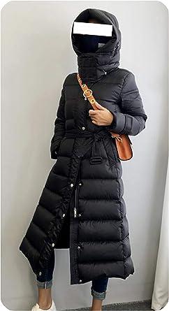 New Womens Thicken Warm Coat Down Full Length Winter Hooded Parka Jacket Outwear