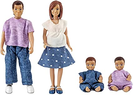 Melody Jane Dollhouse Lundby Modern Family with 2 Babies