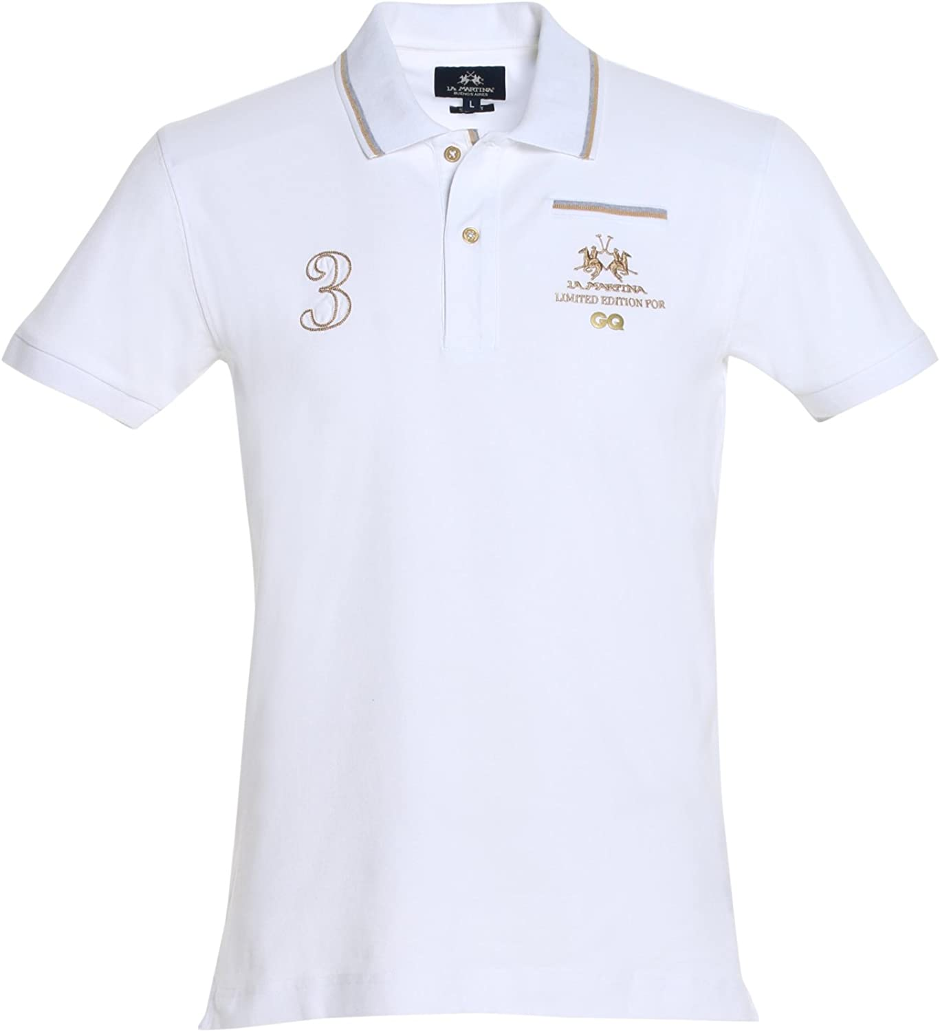 La Martina Polo GQ Camisa, Blanco (00001 Optic White), L para Hombre: Amazon.es: Ropa y accesorios