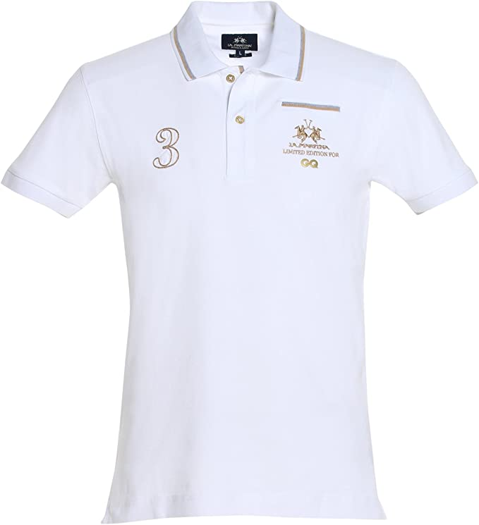 La Martina Polo GQ, Camisa para Hombre, Blanco (00001 Optic White ...