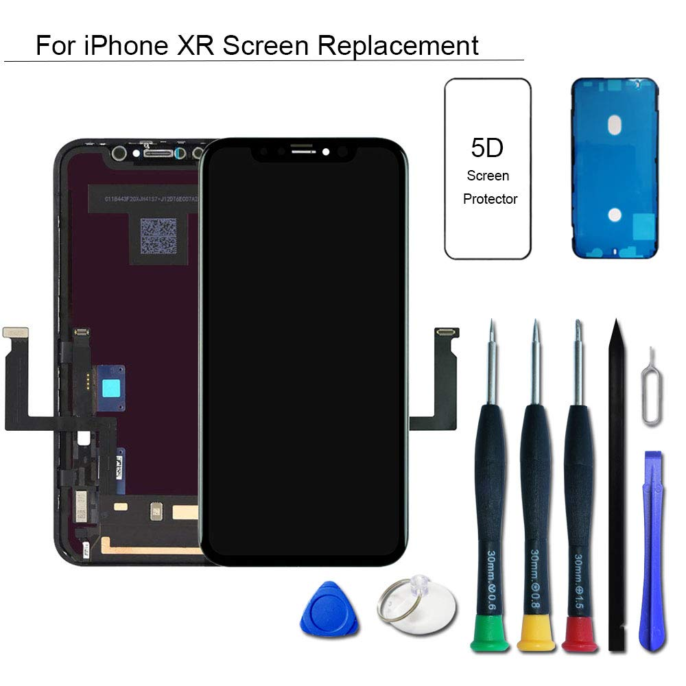 VANYUST for iPhone Xr Screen Replacement, LCD Display Touch Screen Digitizer Assembly with Waterproof Frame Adhesive Sticker for iPhone Xr 6.1 inch by VANYUST