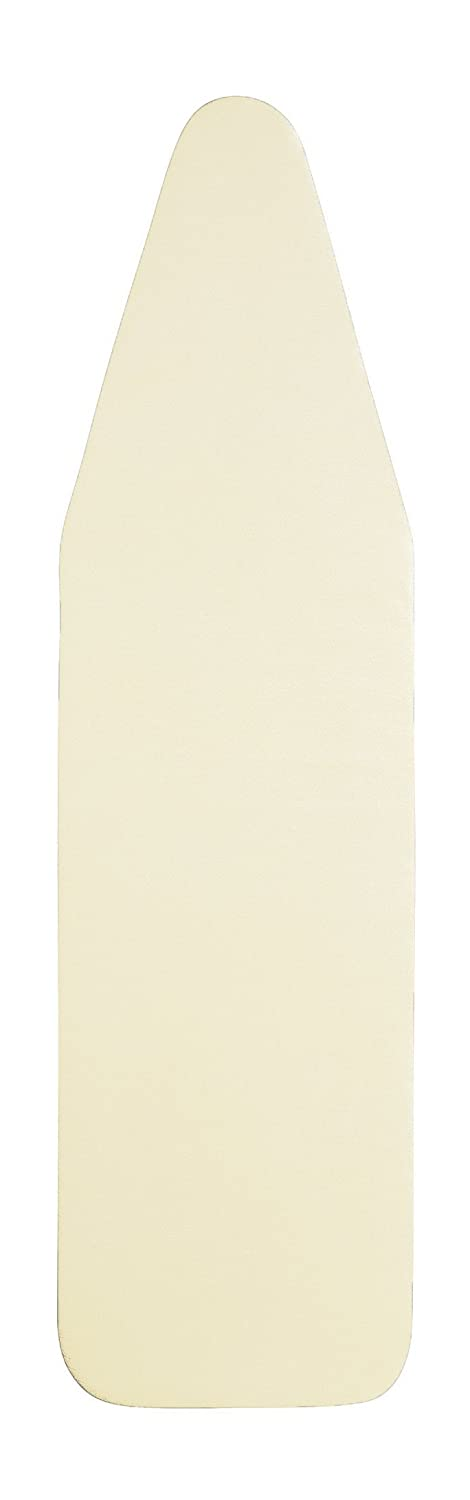 14 x 44 Inch Eco-Friendly, Natural Ironing Board Cover - Untreated, Unbleached, Chemical-Free 100% Cotton top & Natural Wool Padding - Beige Color