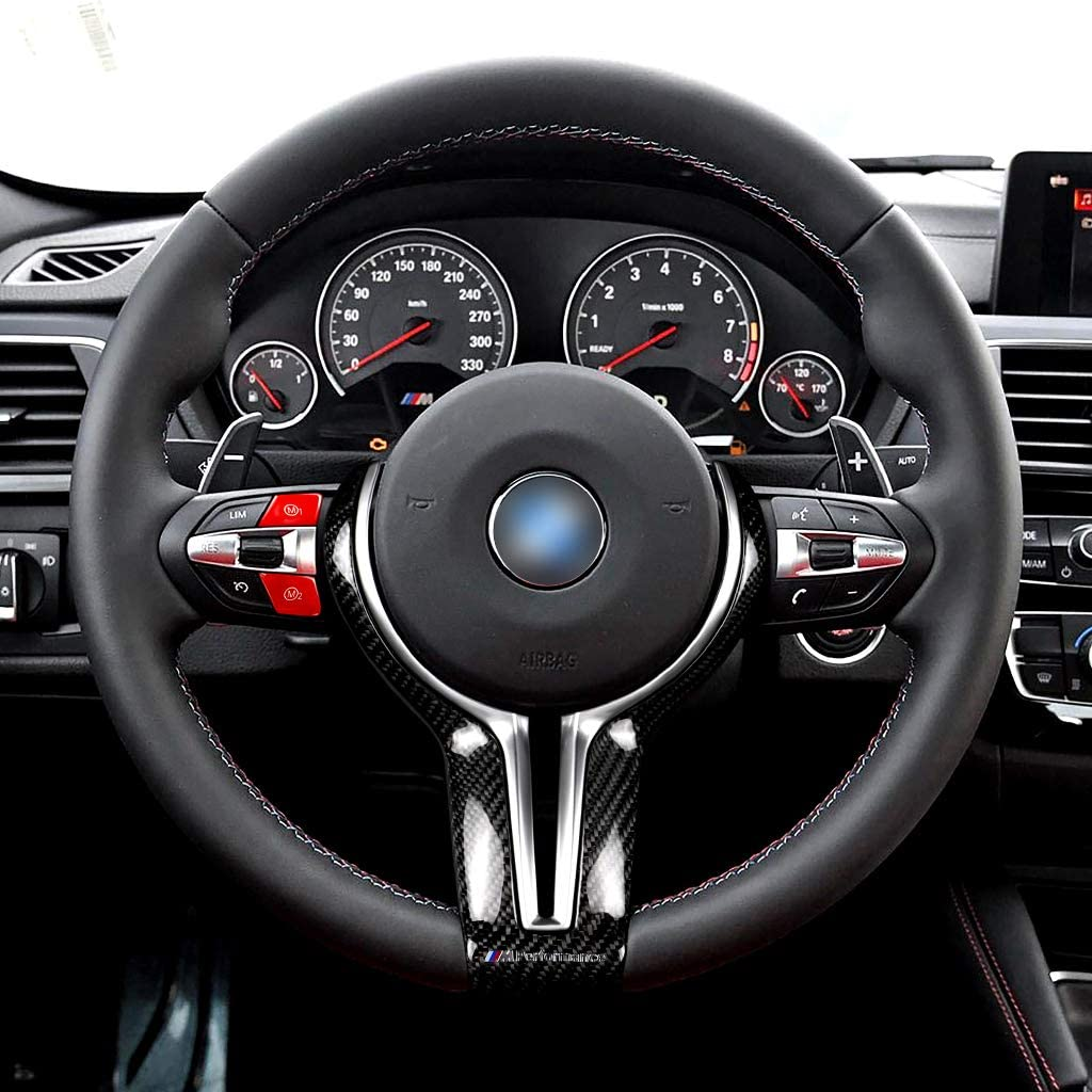 Buwei Red Sports Steering Wheel M1 M2 Model Button For BMW 3 Series E90 E92 E93 M3 2007-2013