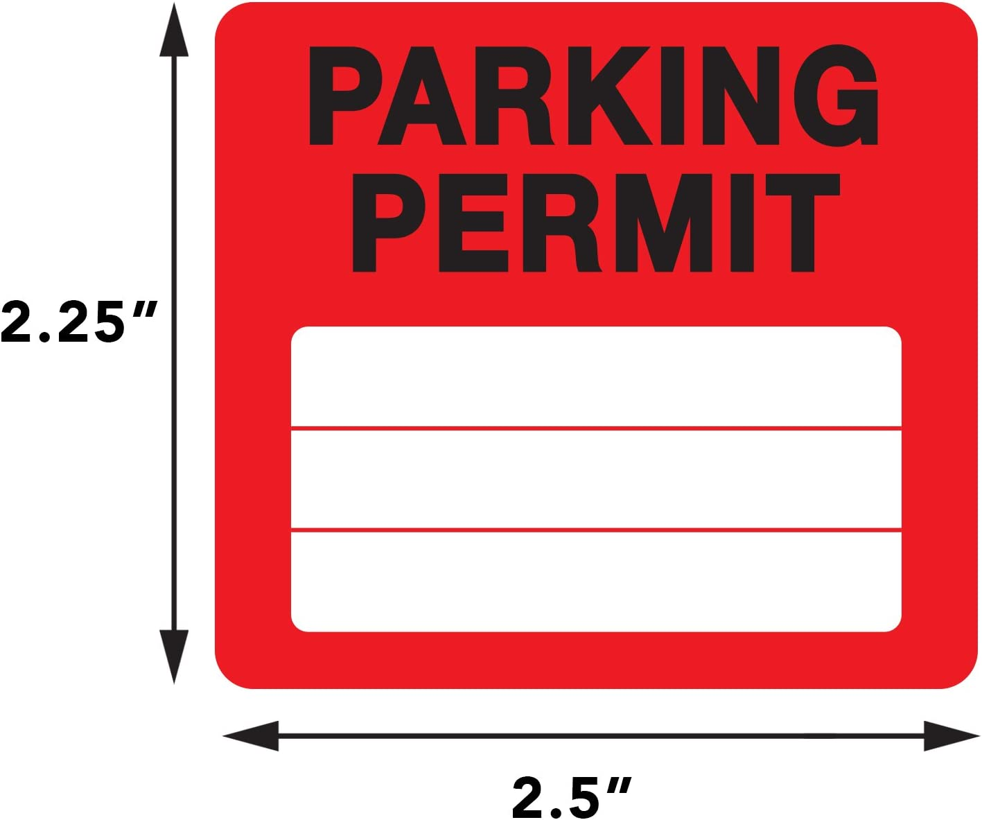 Businesses Office by Milcoast Apartments Parking Permit Pass Stock Static Cling Windshield Sticker Non-Adhesive for Employees Tenants 10 Pack White Students