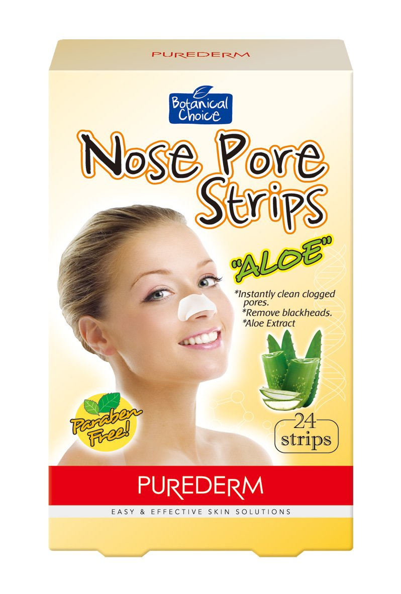Purederm Nose Pore Strips: Premium 24 Pack Green Tea Pore Strips To Remove Blackheads, Dirt and Oil/ Easy To Use, Deep Cleansing Face Pore Strips For Clean, Fresh, Radiant, Youthful Skin Adwin Korea
