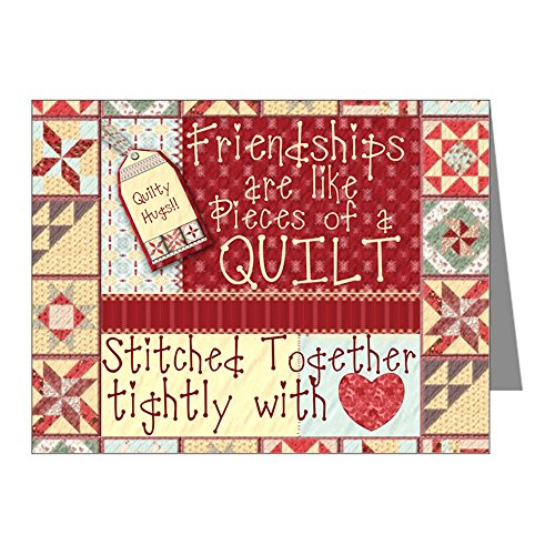 CafePress - Friendships Are Like Quilts Note Cards (Pk Of 20) - Blank Note Cards (Pack of 20) Glossy