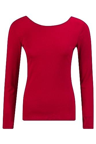 Beauty7 Camiseta Apretado para Mujeres Escotado por Detr¨¢s Cuello Redondo Mangas Larga Fiesta Party...