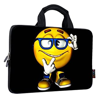 """iColor 11"""" 11.6"""" 12"""" 12.1"""" 12.5"""" inch Laptop Carrying Bag Chromebook Case Notebook Ultrabook Bag Tablet Cover Neoprene Sleeve for Apple Macbook Air Samsung Google Acer HP DELL Lenovo Asus Yellow Boy"""