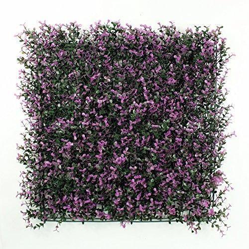 Spring Garden Wall (ULAND Artificial Boxwood Hedge Mat, Privacy Fence Screen, Outdoor Garden Wall Decoration, 20