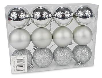 Christbaumkugeln Silber Matt.Christbaumkugeln 12 Stk 6cm Matt Glanz Frost Weihnachtskugel Silber