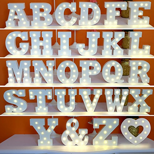 "Lighted Kitchen Signs: Didihou 6"" Wooden Marquee LED Letter Night Lights"