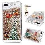 iPhone 7 Plus Case, iPhone 8 Plus Liquid Case Fashion Creative Design Floating Luxury Bling Glitter Sparkle Cover Hard PC Skin for iPhone 7/8 Plus, Gold