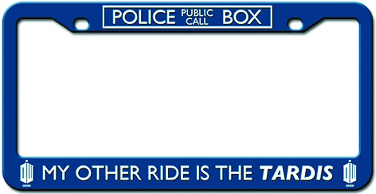 amazoncom doctor who my other car is a tardis license plate frame automotive