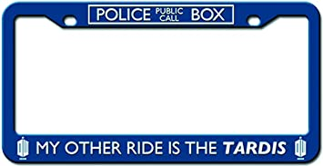 doctor who license plate frame my other ride is the tardis design 625 - Doctor Who License Plate Frame