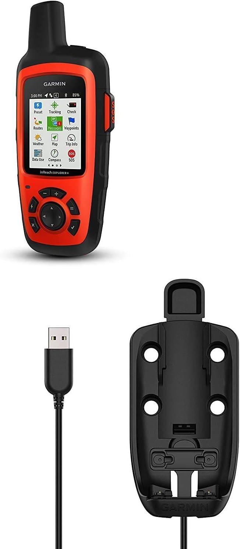 Garmin inReach Explorer + Tracker GPS Satelital con Soporte Motorizado