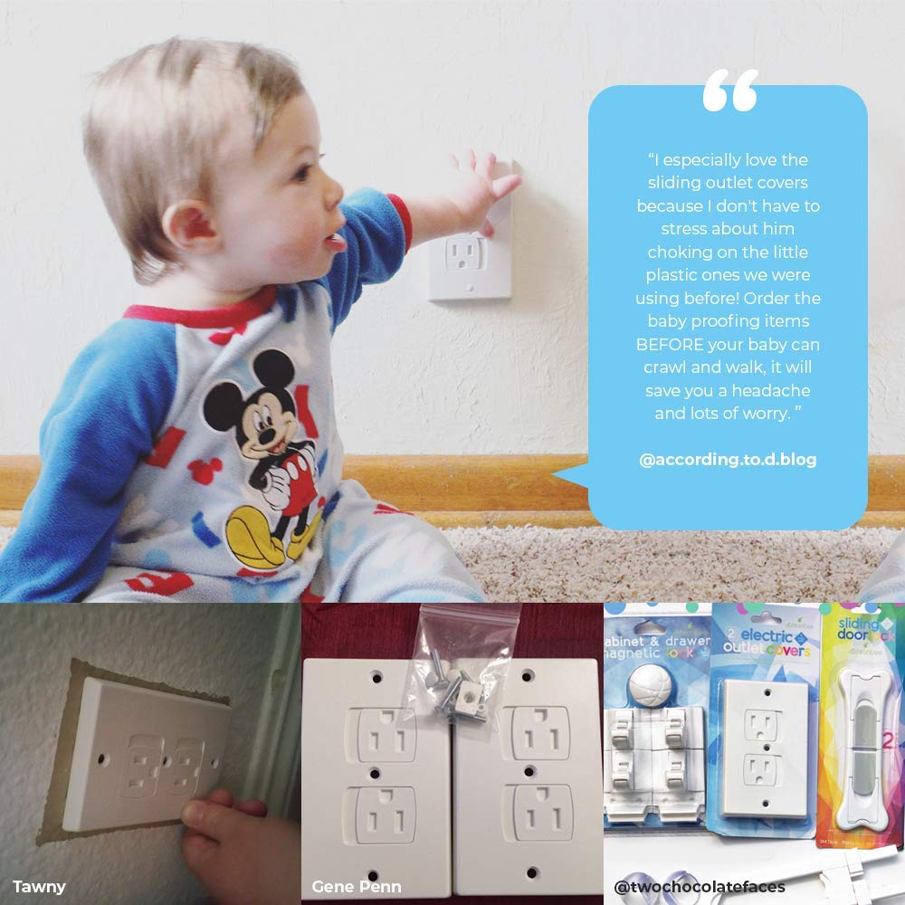 0f5c5a037769 Amazon.com   Child Safety Electrical Outlet Covers for Baby Proofing ...