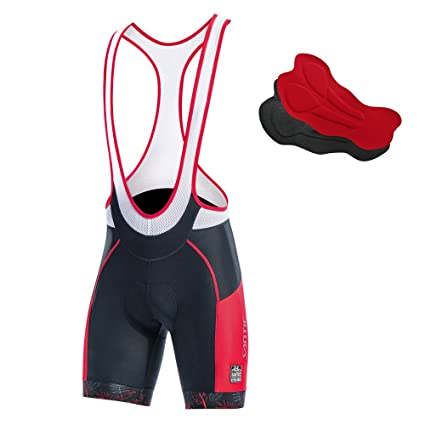 eee61c1c8 Image Unavailable. Image not available for. Color  Santic Cycling Bib Shorts  Men Pro Gel Padded Bike ...