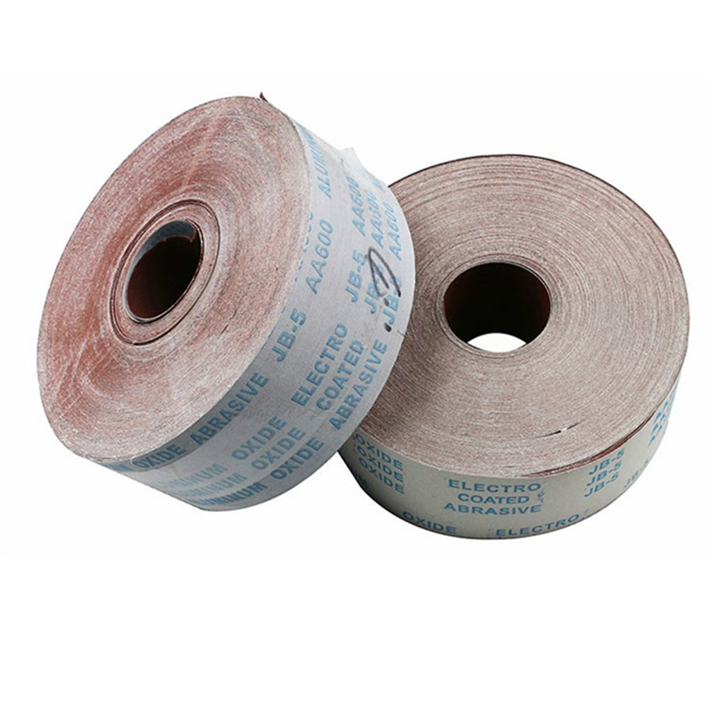 Wide Aluminium Oxide Roll Polishing Sandpaper for Grinding Polishing Tools Metalworking Dreme 115mm OMAS 10meter 120 Grit 4.5 Inch