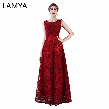 Lamya Women Fashion Formal Evening Dress Cheap Long Prom Dresses 2018