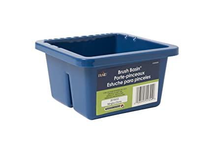 Plaid Enterprises HDPE Brush Basin, 8-1/2 x 6-1/2 x 3-1/2 Inches, Dark Blue