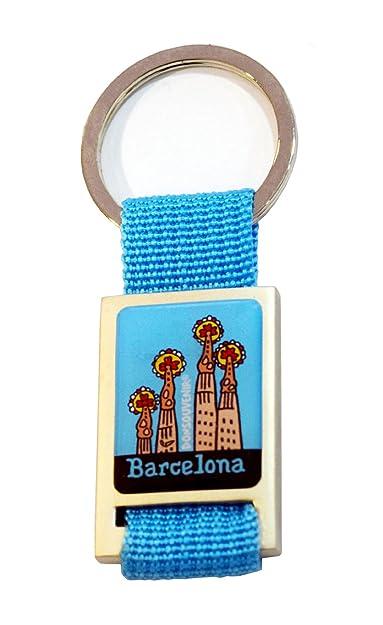 Llavero Barcelona - Torres DE GAUDÍ (Sky Blue): Amazon.es ...