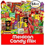 Mexican Candy Assortment Snacks (64 Count), Variety Of Spicy Bulk Candies Dulces Mexicanos, Includes Lucas Candy, Pelon Rico, Vero Mango Lollipop, Rebanaditas, Pulparindo And Other Favorites By MTC.