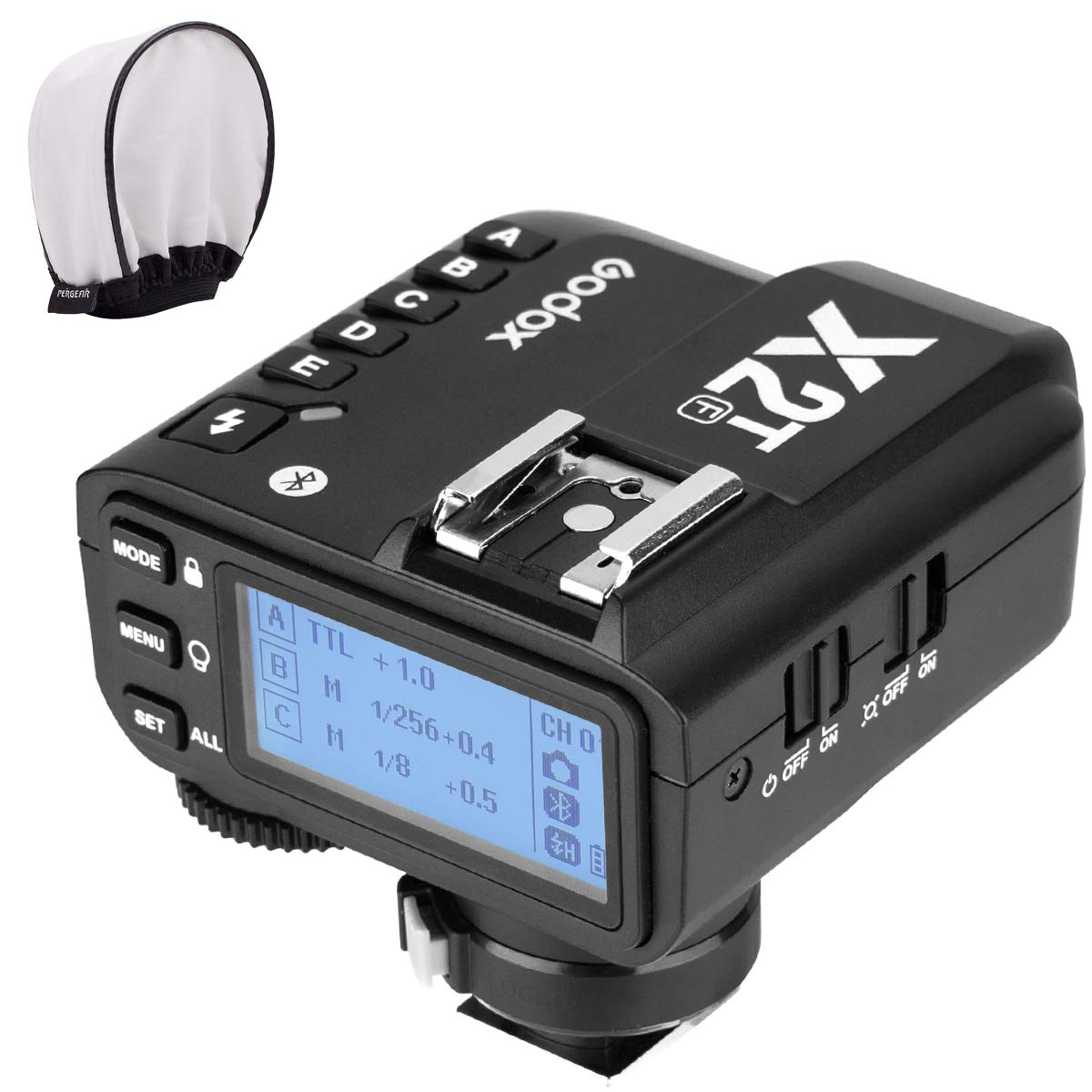 Godox X2T-F TTL Wireless Flash Trigger for Fujifilm Fuji, Bluetooth Connection, 1/8000s HSS, TCM Function, 5 Separate Group Buttons, Relocated Control-Wheel, New Hotshoe Locking, New AF Assist Light