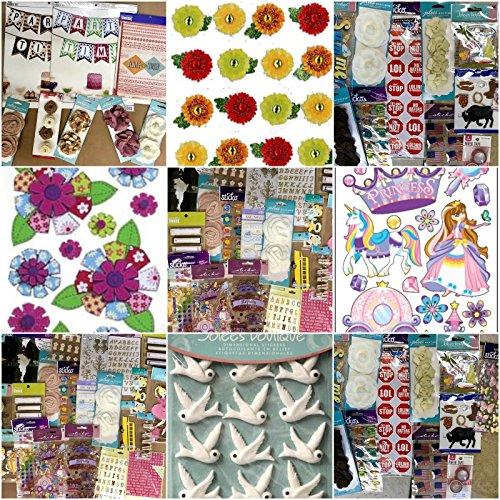 Multi Huge Lot Of 40 Packages Scrap-Booking Stickers EK Success Sticko Momenta Jolee's by Energi8_fab