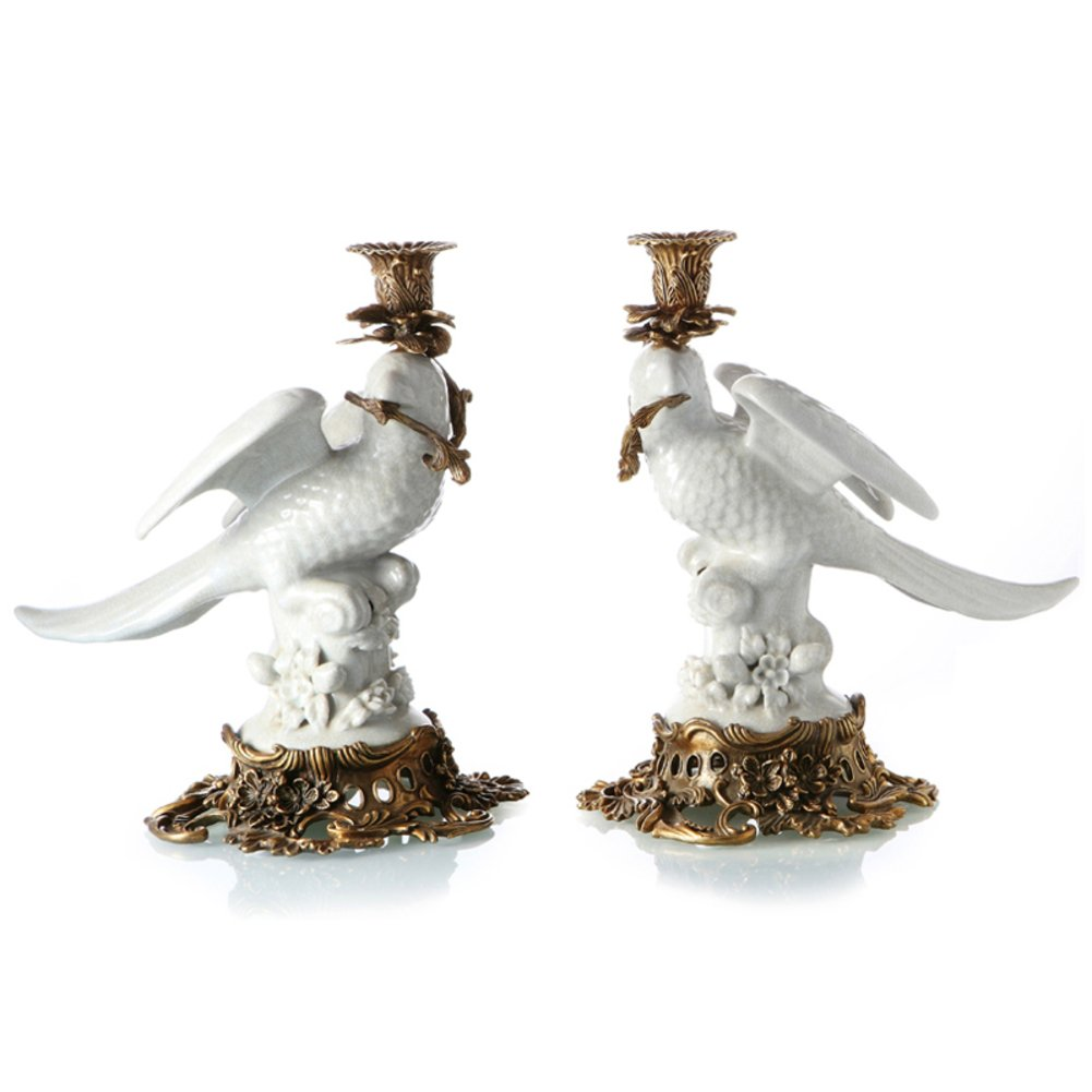 European classical animal candle High-end home Villa candlestick ornaments-A