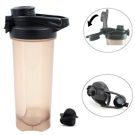 Coctelera batidora de botella, 23 oz/700 ml agua copa, respetuoso ...