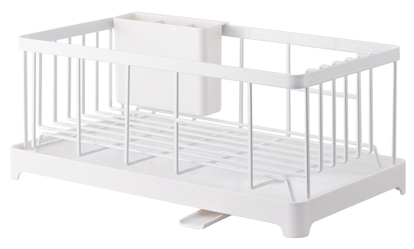 YAMAZAKI home 2875 Tower Wire Dish Drainer Rack, White
