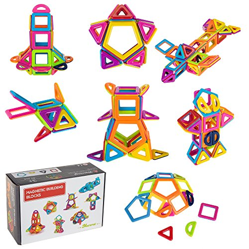 Magnetic Toys for Kids-Magnetic Building Shapes for Creative & Imaginative Play- Educational Toys with Storage Box by Marsrut
