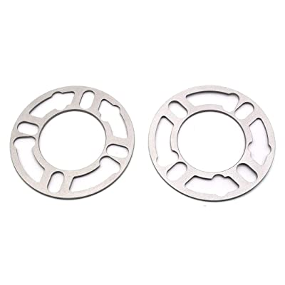 LU HWN 4X4 Universal Wheel Spacers 3mm Thick, 4 & 5 Lug for PCD from 98 to 120mm, 2 Pack: Automotive