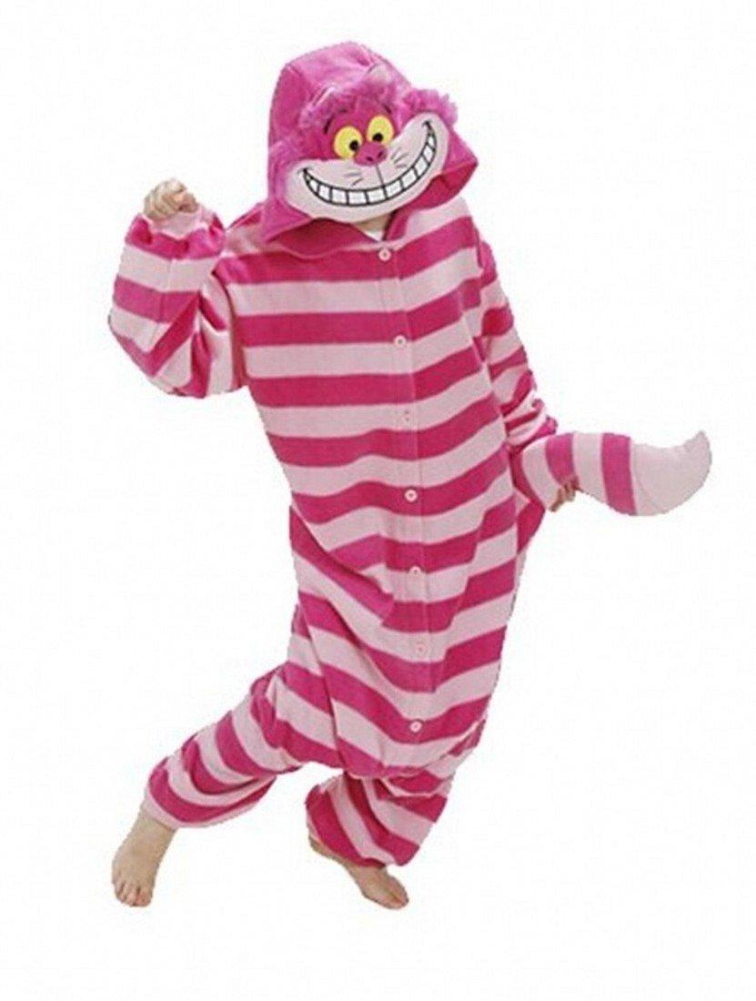 Sweetdresses Adult Unisex Animal Sleepsuit Kigurumi Cosplay Costume Pajamas (Large, Cheshire Cat)