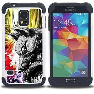 - Abstract World Painting - - Doble capa caja de la armadura Defender FOR Samsung Galaxy S5 I9600 G9009 G9008V RetroCandy