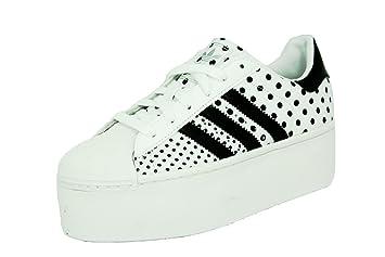adidas superstar 2 piattaforma in bianco nero e le scarpe alla moda