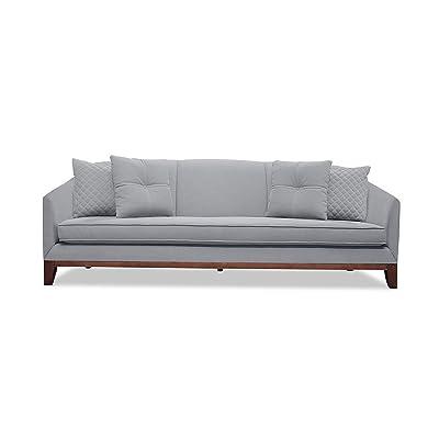 "South Cone Home LOISOF72/Grey Lois Linen Sofa, 72"", Grey"
