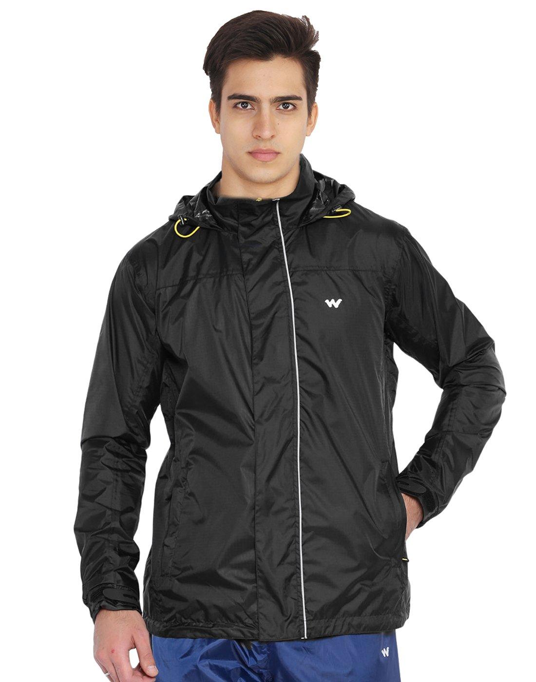 309beea34 Wildcraft Men Black Rain Pro Jacket: Amazon.in: Sports, Fitness ...