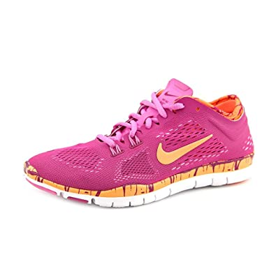 new concept b4b86 421f9 NIKE WMNS Free 5.0 TR Fit 4 PRT Bright Magenta Orange (629832-501)