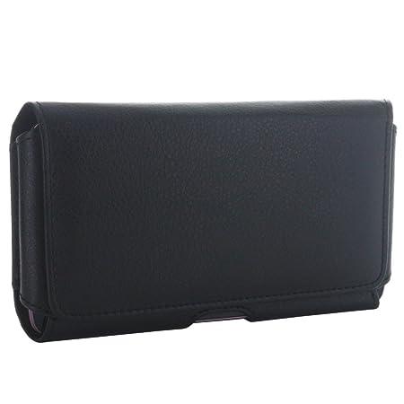 6162ef33e58ed Pochette ceinture horizontale pour téléphone portable avec clip en acier   Amazon.fr  High-tech