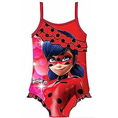 Miraculous Ladybug - Traje de una pieza - para niña Rose 4 años ...
