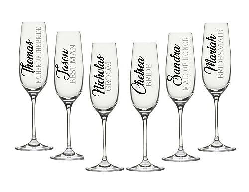 Personalised Custom name sticker vinyl decal wine glass,water bottle,wedding