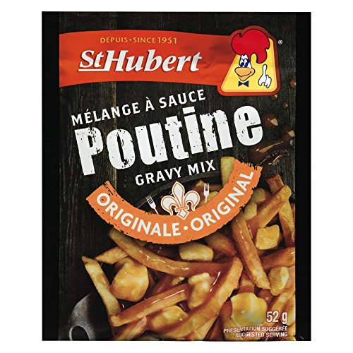 St Hubert Poutine Gravy Mix Classic Sauce Original Recipe 52 grams Pack of Three (3)