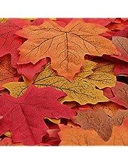 Luxbon 150 stks Kunstmatige Herfst Esdoorn Bladeren Herfst Kleuren Nep Herfst Decoraties voor Bruiloft Feesten Tabel