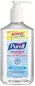 Purell Purell Advanced Instant Hand Sanitizer Gel Citrus Scent, 12 oz (Pack of 3)