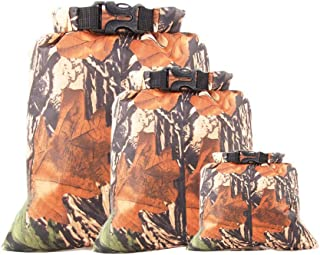 3pcs LUCKSTONE Camouflage Waterproof Dry Bag Sack Ocean Pack Floating Boating Kayaking Camping, Protects from Dust, Water, Snow, Rain (A)