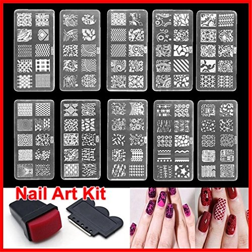 Amazon Dolland Nail Art Stamping Kit 1 Pc Manicure Plate With