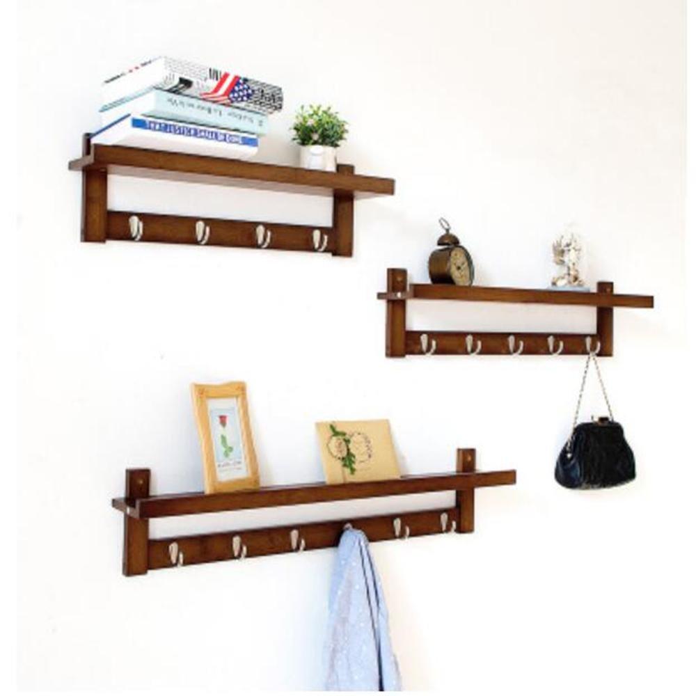 DB&PEISHI Wall shelf / living room wall-mounted hook / bedroom door hook / storage shelf , retro color three pieces